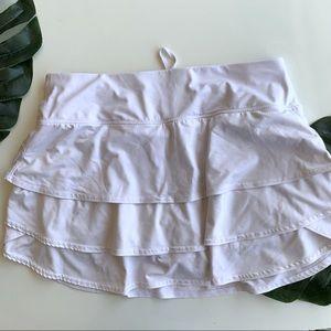 Athleta M White Tennis Skort Built-In Shorts